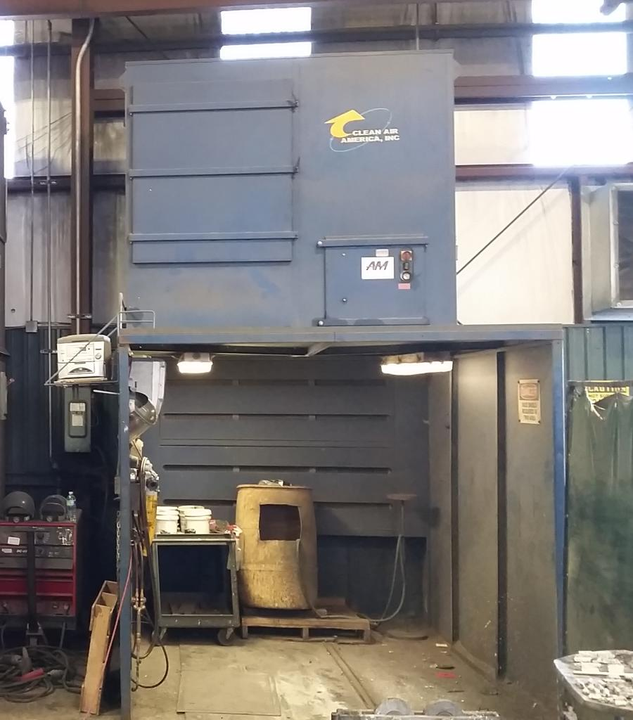 6,000 cfm Clean Air America Workstation 2000 DFC-12 Booth Dust Collector