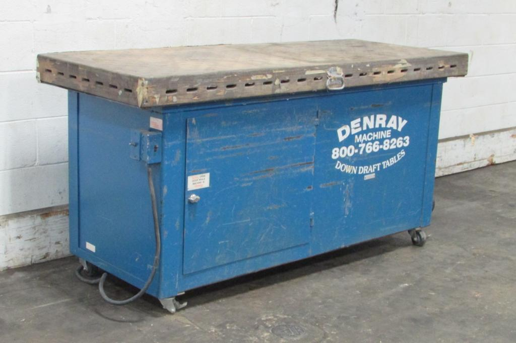 3,000 cfm Denray #2872B Downdraft Table Dust Collection System