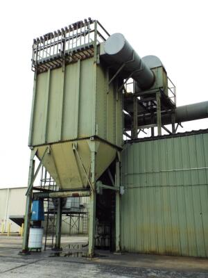 25,000 cfm #192-10 Pulse-Jet Baghouse Dust Collector