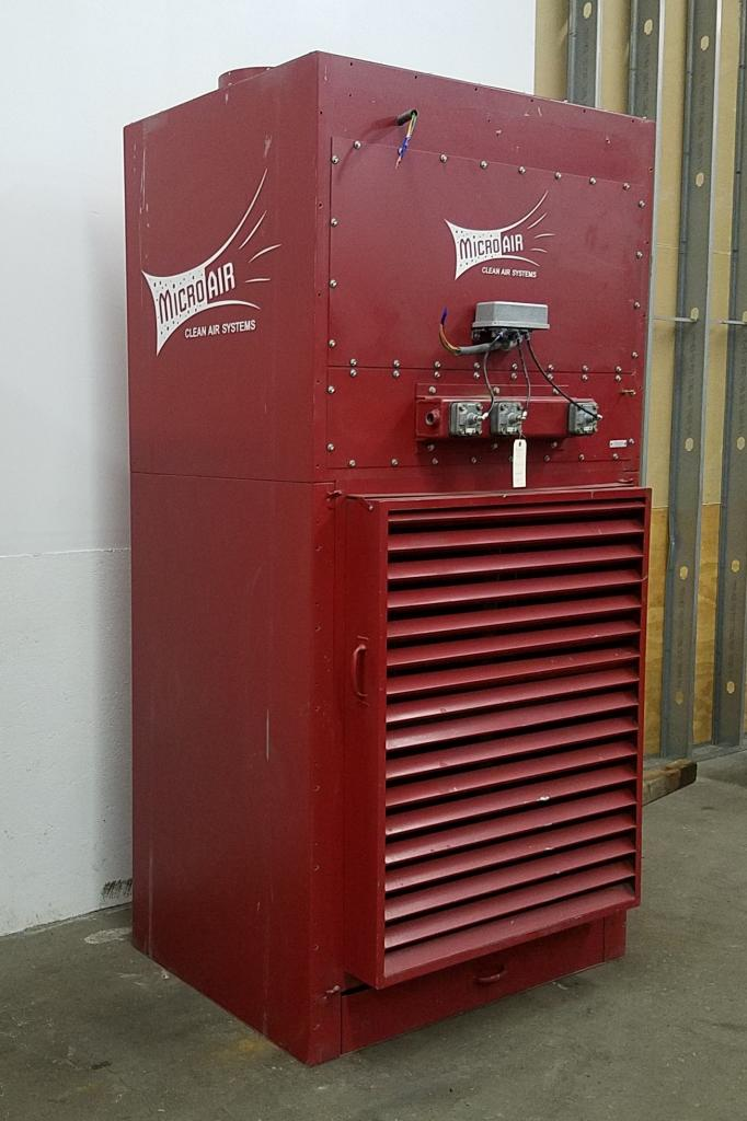 4,500 cfm Micro-Air #CAB8-881 Booth & Backdraft Dust Collector