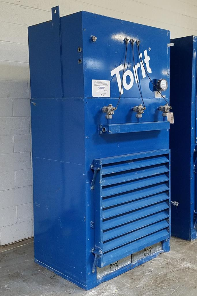 4,500 cfm Donaldson Torit #ECB-1 Booth & Backdraft Dust Collector
