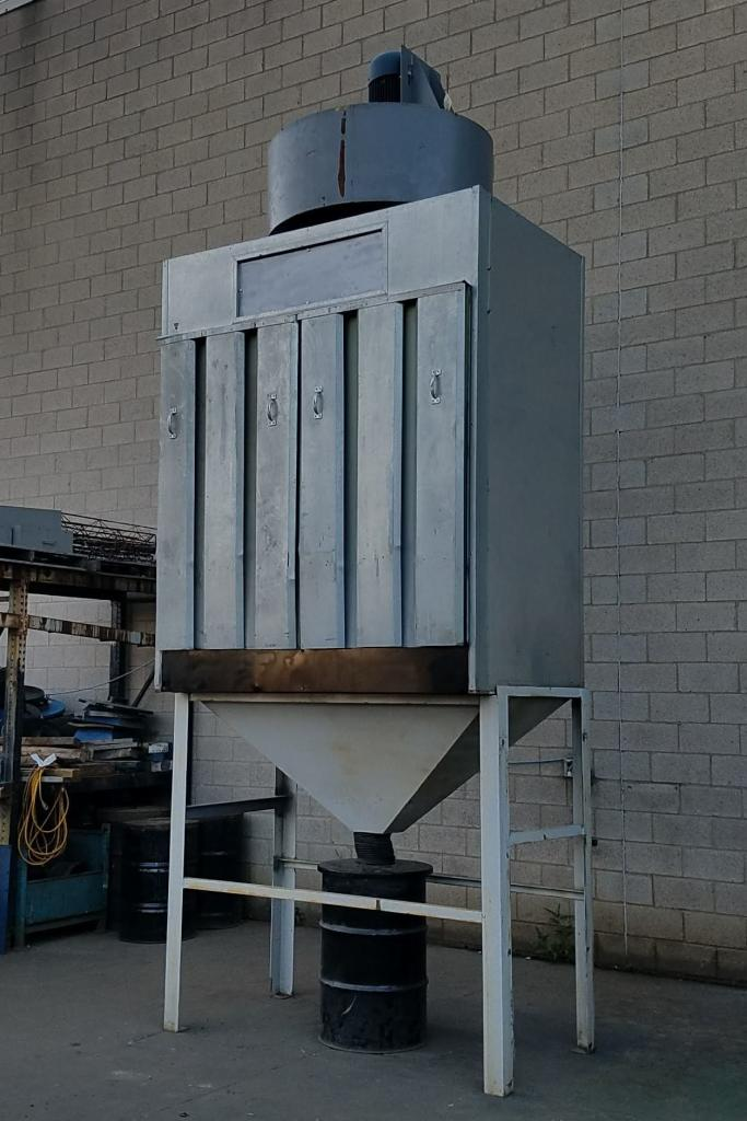 16,000 cfm Envirosystems Air Wall #HD160 Booth Type Dust Collector