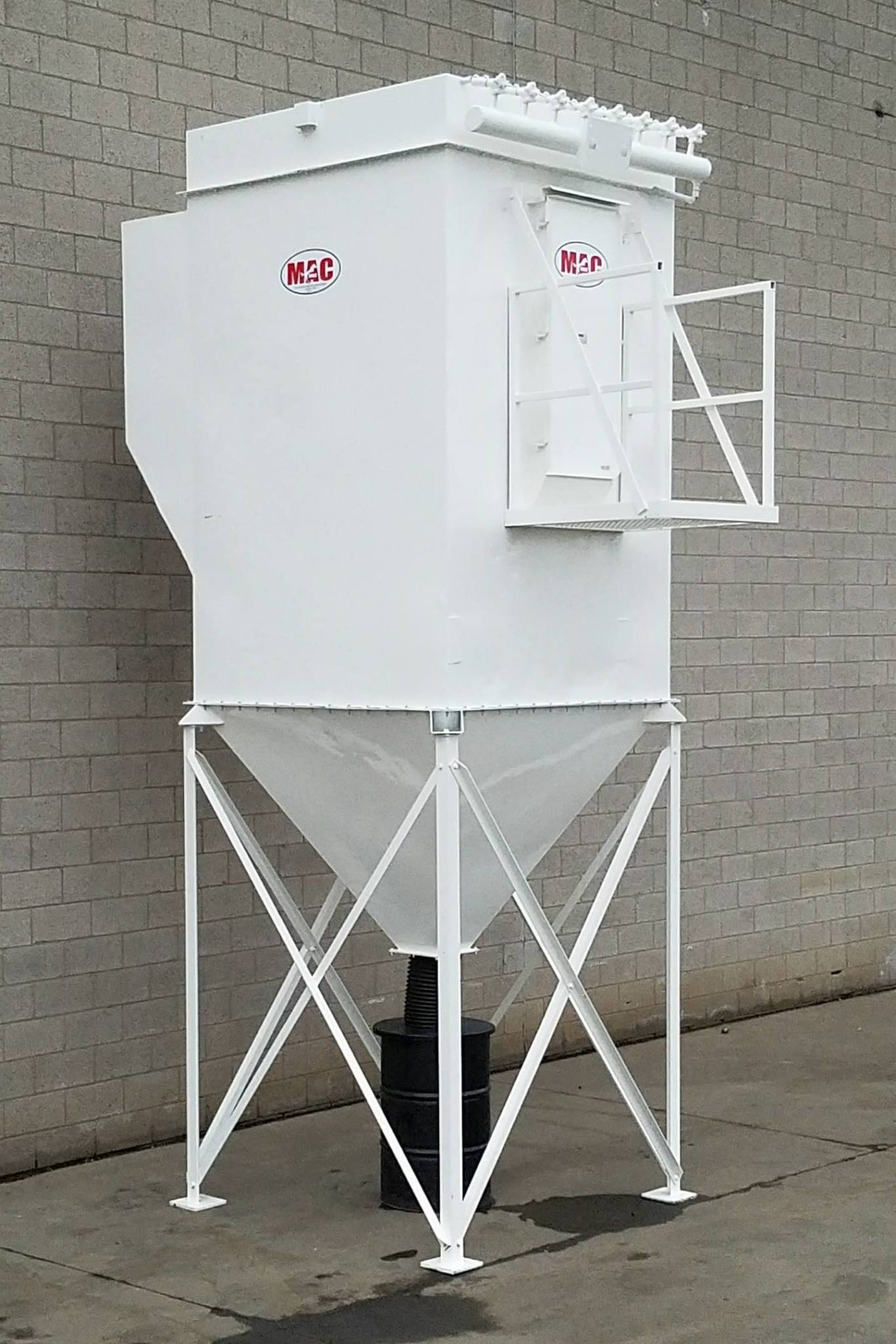 7,500 cfm Mac Process #96AVS64 Baghouse Dust Collector