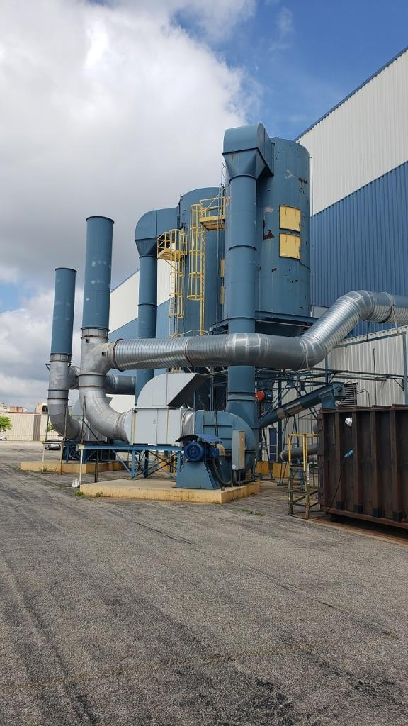 55,000 cfm Mac Process #120MCF494 Baghouse Dust Collector