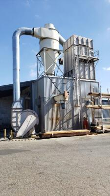 20,000 cfm Wheelabrator #1215 TA-SB Mod108 Baghouse Dust Collector
