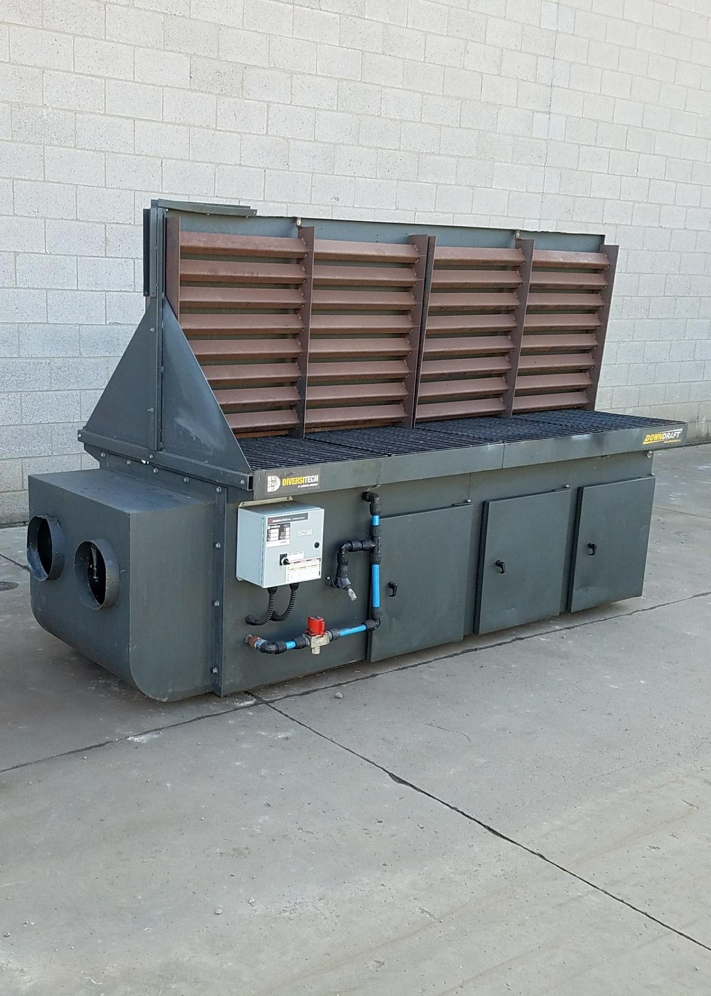 5,000 cfm Diversi-Tech #DD 4 x 8 Downdraft Dust Collector