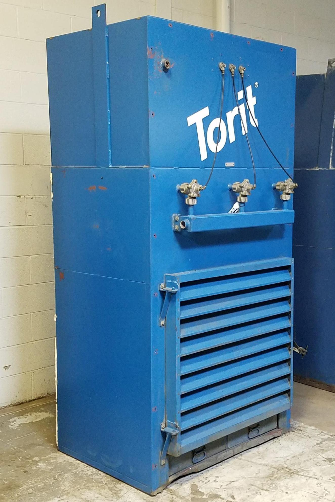 4,500 cfm Donaldson Torit #ECB Booth & Backdraft Dust Collector