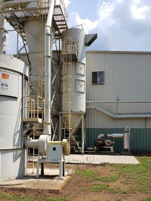 18,000 cfm Mac Process #120MCF153 Baghouse Dust Collector