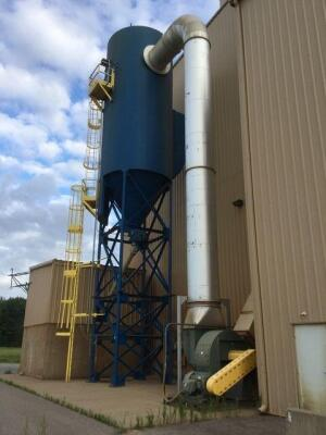 60,000 cfm Donaldson Torit #458RFW12 Baghouse Dust Collector